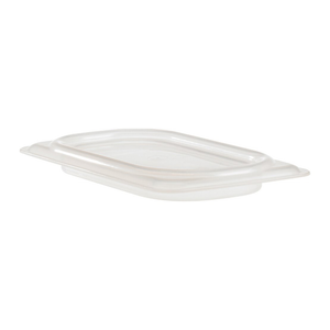 Cambro 90PPCWSC190 Camwear Food Pan Seal Cover, 1/9 size, 6-15/16L x 4-1/4W, material is safe from -40F to 160F -4C to 70C, polypropylene, translucent, NSF