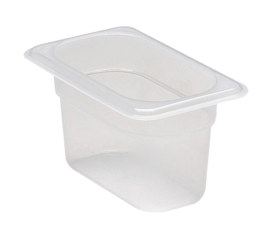 Cambro 94PP190 Food Pan, 1/9 size, 4 deep, polypropylene, translucent, NSF