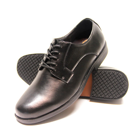 Genuine Grip 9540 Men's Dress Oxford Style Slip Resistant Work Shoes, Black