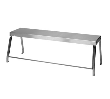 "Duke 956-460-4 Deluxe Serving Overshelf, table mount, 58-7/32""W x 10-1/2""D x 20""H, with 1/4"" thick glass, NSF, UL EPH Classified, cULus"