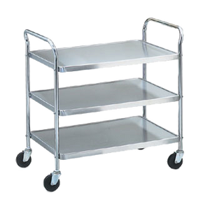 "Vollrath 97105 Utility Cart with Chrome Plated Frame & Handles 24""x16"""