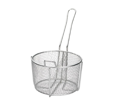 "TableCraft Products 987 Cooking Basket, 8-1/4"" dia. x 5""H, round, stainless steel"