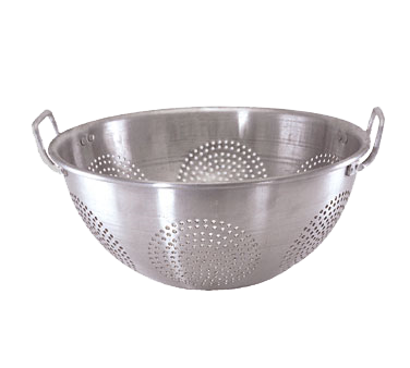 "Crown Brands ACO-16CH Update International™ - Chinese Colander, 16 quart, 16"" dia. x 6-5/8""H, round, with handles, 1 mm thick aluminum"