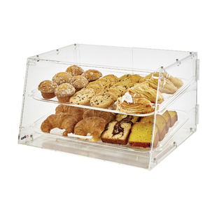 "Winco ADC-2 Display Case, 21"" x 18"" x 12""H, Acrylic, Clear"