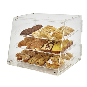 "Winco ADC-3 Display case, 21"" x 18"" x 16-1/2""H, Acrylic, Clear"