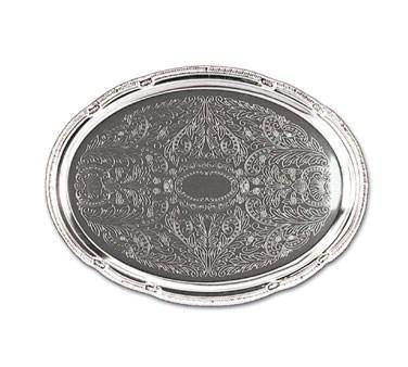 "Adcraft CCT-18  Cater Tray with Decorative Surface, Oval, 18"" x 13"""