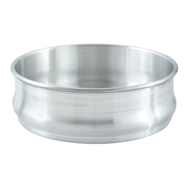 "Winco ALDP-96 Dough Retarding/Proofing Pan, 96 oz., 8-3/4"" dia. x 3""H, stackable, aluminum"
