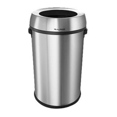 Alpine Industries 470-65L, 17 Gal Indoor Decorative Trash Can - Metal, Stainless Steel
