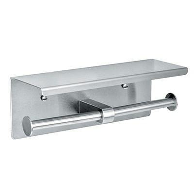 Alpine Industries 487-B, Double Roll Toilet Paper Dispenser, Wall Mount, Stainless Steel