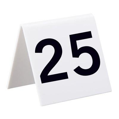 Alpine Industries 493-1-25, Self Standing Number Cards, Numbers 1-25, Acrylic White