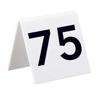 Alpine Industries 493-51-75, Self Standing Number Cards, Numbers 51-75, Acrylic White