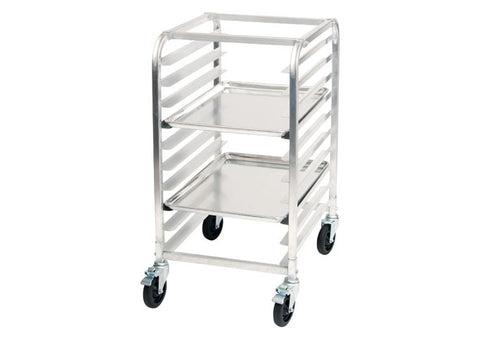 Winco ALRK-10BK Mobile 10-Tier Aluminum Sheet Pan Rack