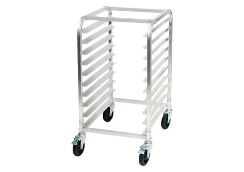 Winco AWRK-10 Mobile Sheet Pan Rack, Half Height, Aluminum, NSF