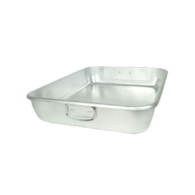 "Thunder  ALRP9605 Double Roasting Pan, 24"" x 18"" x 4-1/2"", with drop loop handles, heavy duty, aluminum"