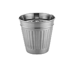 "American Metalcraft OSCAR Mini Table Top Trash Can 14 oz 3-3/4"" dia x 3-1/2""H"