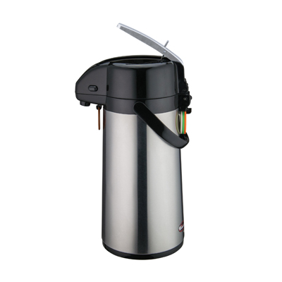 Winco AP-819 Airpot, 1.9 liter, glass liner, lever-top, double wall insulated