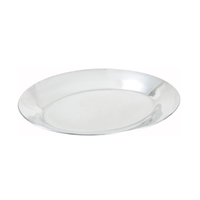 "Winco APL-12 12"" Oval Sizzling Platter, Aluminum"