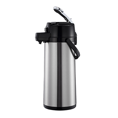 Thunder Group ASLS325 Airpot 2.5 Liter (84 oz.), Stainless Steel, Mirror-Finish