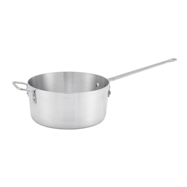 Winco ASP-10 10 Qt Aluminum Saucepan w/ Solid Metal Handle