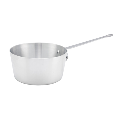 Winco ASP-2 2.5 Qt Aluminum Saucepan w/ Solid Metal Handle