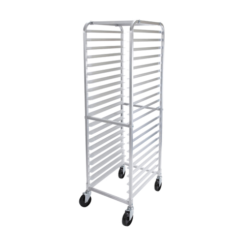 Winco AWRK-20 Mobile 20-Tier Sheet Pan Rack, Aluminum