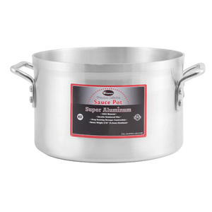 Winco AXAP-14 14 Qt. Standard Weight Aluminum Sauce Pot