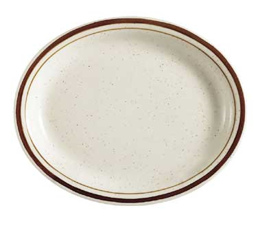 "CAC China AZ-13 Arizona Platter, 11-1/2""L x 9""W x 1""H, oval, narrow rim"