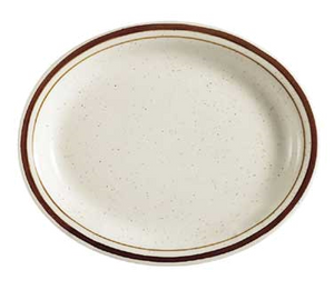 "CAC China AZ-14 Arizona Platter, 13-1/2""L x 10-1/8""W x 1-1/4""H, oval, narrow rim, 1dz Per Case"
