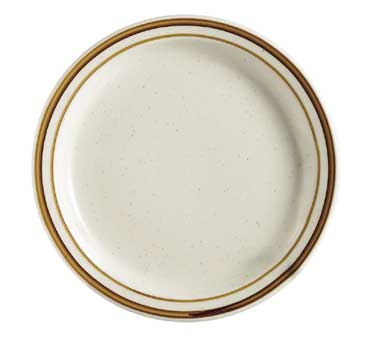 "CAC China AZ-6 Arizona Plate, 6-5/8"" dia. x 3/4""H, round, narrow rim"