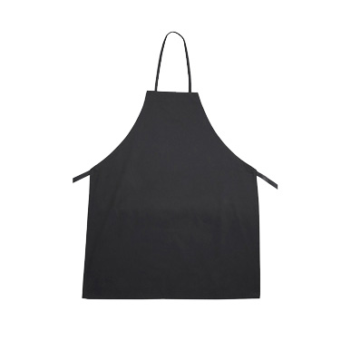 "Winco BA-3226BK Bib Apron, 31"" x 26"", full-length, without pockets, machine wash and dry, cotton/poly blend, black"