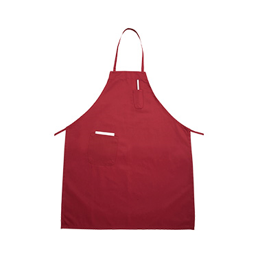 "Winco BA-PBG Bib Apron, 31"" x 26"", full-length, with (2) pockets, machine wash and dry, cotton/poly blend, burgundy"