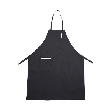 "Winco BA-PBK Bib Apron, 31"" x 26"", full-length, with (2) pockets, machine wash and dry, cotton/poly blend, black"