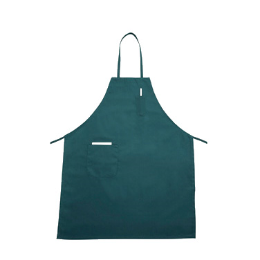 "Winco BA-PGN Bib Apron, 31"" x 26"", full-length, with (2) pockets, machine wash and dry, cotton/poly blend, green"