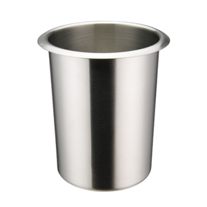 "Winco BAM-1.25 Bain Marie - 1.25 Qt. (5"" x 6"" Round Stainless Steel), Mirror Finish"
