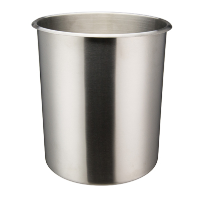 "Winco BAM-12 Bain Marie - 12 Qt. (10"" x 10.5"" Round Stainless Steel), Mirror Finish"