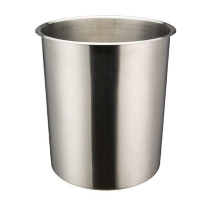 "Winco BAM-8.25 Bain Marie, 8-1/4 quart, 9"" x 9-3/4"", round, bent rim, stainless steel, mirror finish"