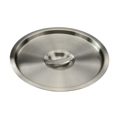 Winco BAMC-12 Bain Marie Cover, for 12 quart, round, with handle, stainless steel, mirror finish