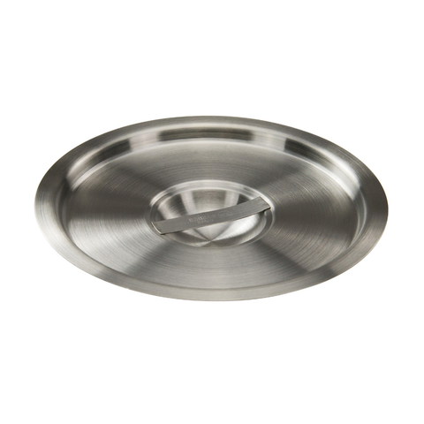 Winco BAMC-6 Bain Marie Cover, for 6 quart, round, with handle, stainless steel, mirror finish