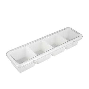 Winco BC-4P 4 Compartment Bar Condiment Tray