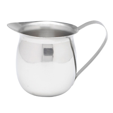 Winco BCS-5 Bell Creamer, 5 oz., with handle, stainless steel