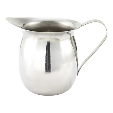 Winco BCS-8 Bell Creamer, 8 oz., with handle, stainless steel