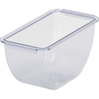 San Jamar BD101 Chillable Replacement Tray - 1 Pint, Translucent Blue, NSF