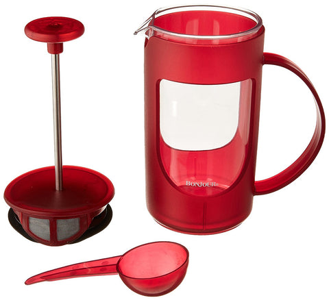 Bonjour 53194 (3) cup ami-matin french press, red