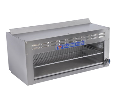 "Bakers Pride BPCMI-36 Restaurant Series Cheesemelter, gas, 36"" wide, (1) infrared burner, manual control with pilot, 5,000 BTU"