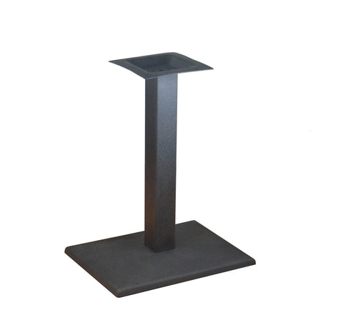DHC BS-BLK-1522-28H Black Finish Square Table Base For Restaurants