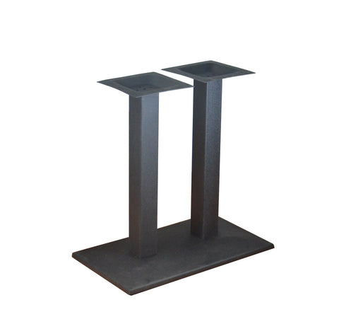 DHC BS-BLK-1528-28H  Black Finish Square Table Base