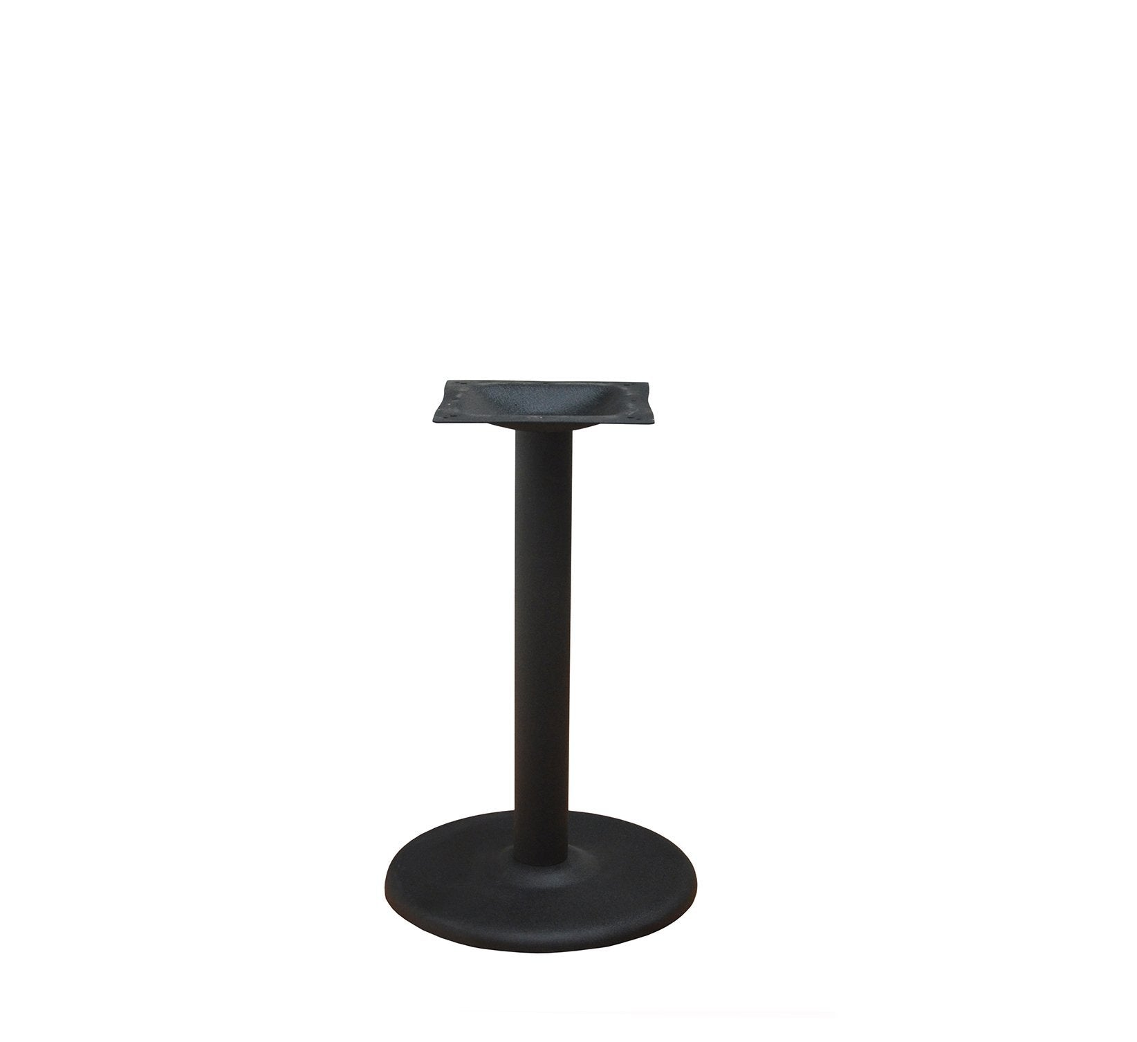 "DHC BS-BLK-18R-28 H Steel Round Table Base For Restaurants, 28""H Black Finish"