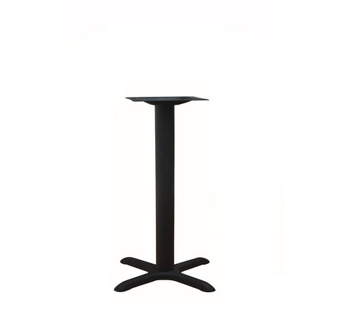 "DHC BS-BLK-2222 28""H Steel Cross Table Base, Black Finish"