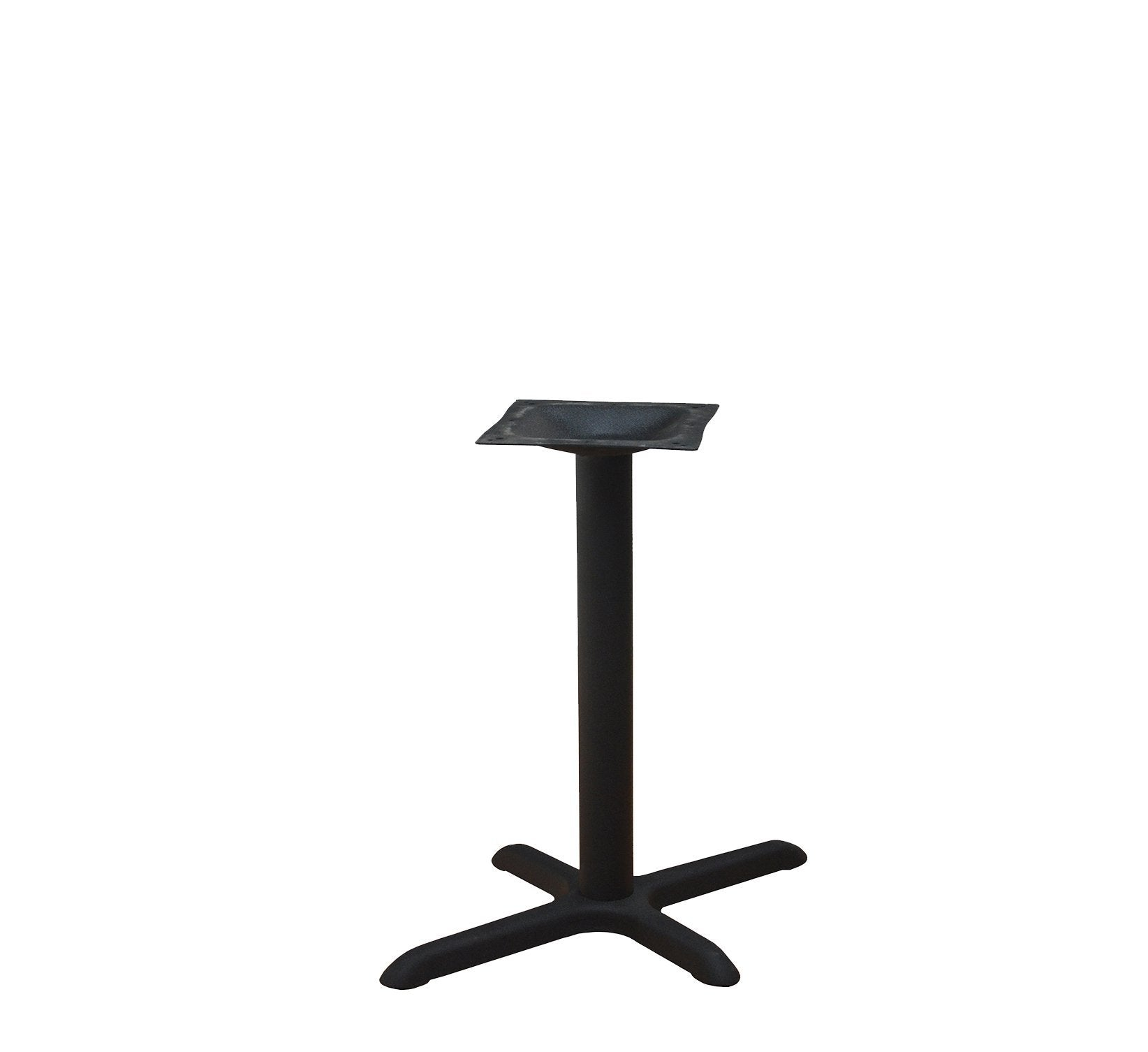 DHC BS-BLK-2230-28H Steel Cross Table Base, Black Finish