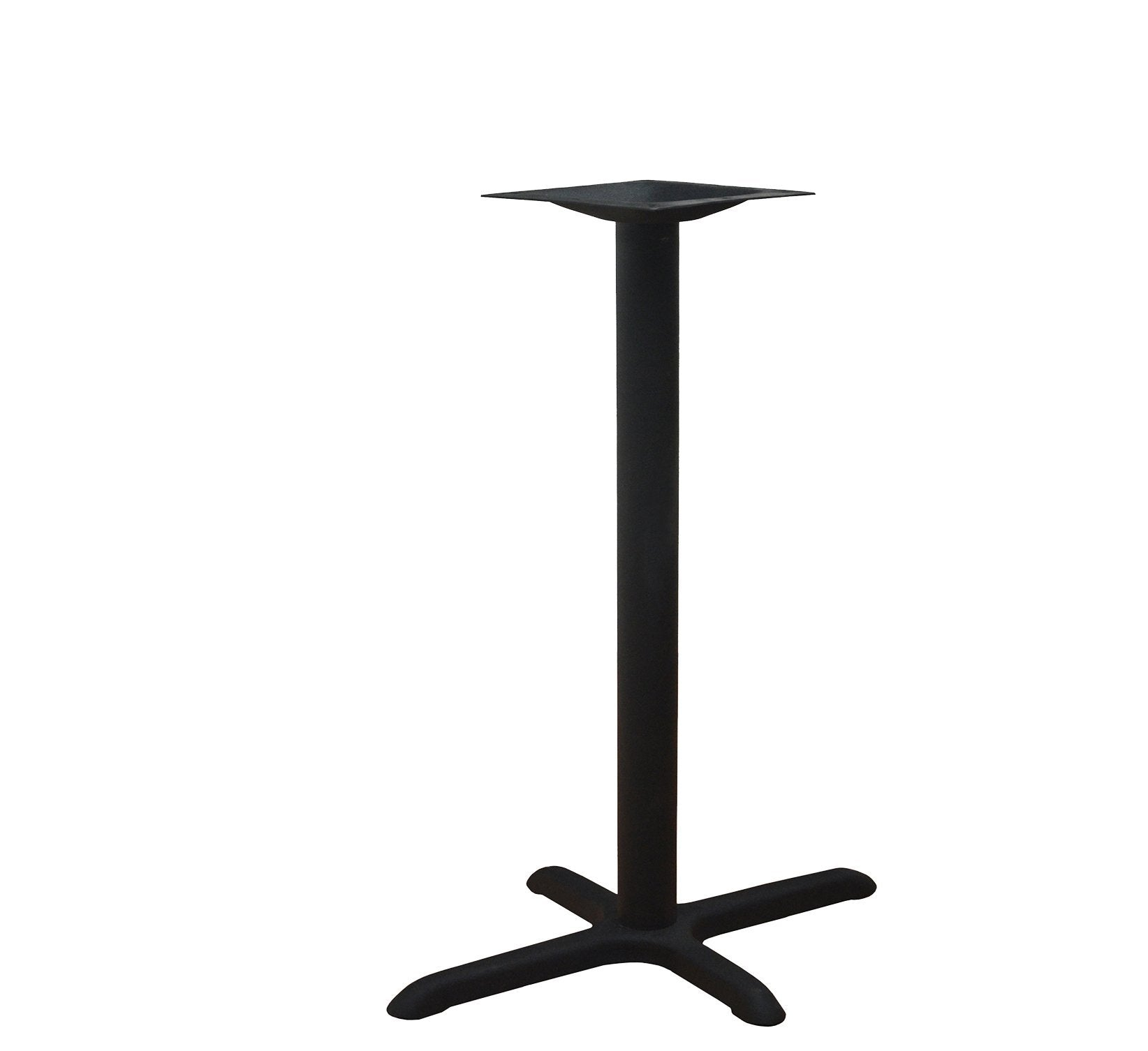 DHC BS-BLK-2230-41H Steel Cross Table Base, Black Finish
